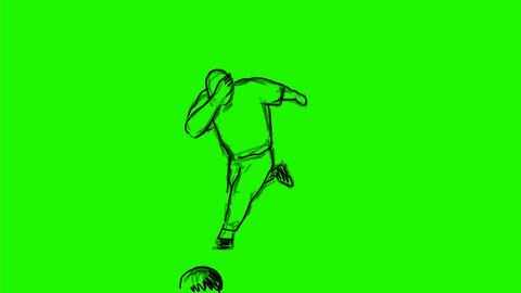 Bowler Hitting a Strike Tenpin Bowling Drawing 2D Animation Animation