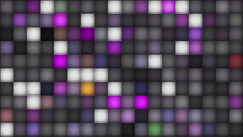 Colorful Squares on Dark Looping Background Animation