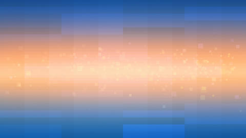 Orange Shining Beam and Blue Squares Looping Background Stock Video Footage