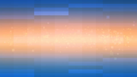 Orange Shining Beam and Blue Squares Looping Background Animation