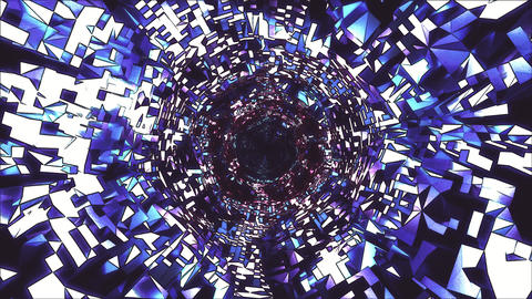 Cartoon Style VJ Tunnel Particle Flow Animación