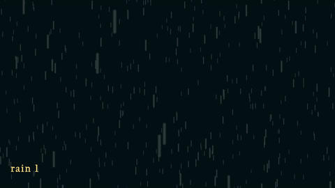 6 type of 2D rain animation After Effectsテンプレート