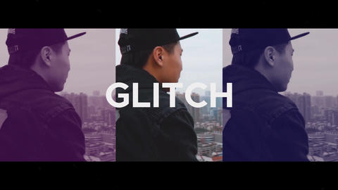 Trendy Glitch Opener After Effectsテンプレート