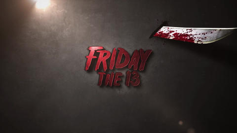 FRIDAY THE 13 LOGO or TEXT INTRO After Effects Template