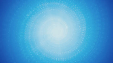 Sky Blue Animated Spiral Particles Animation