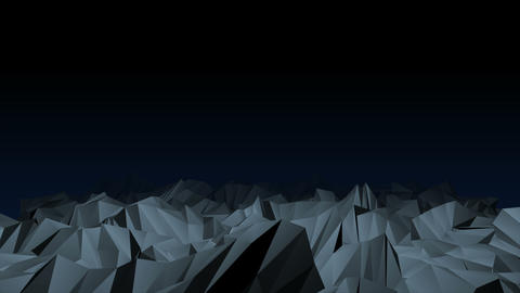Dark sci-fi low poly mountains video animation Animation