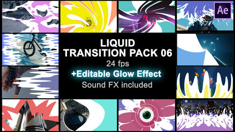 Liquid Transitions Pack 06 After Effects Template