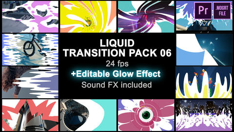 Liquid Transitions Pack 06 Motion Graphics Template