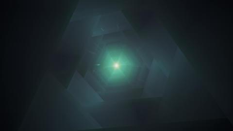 Fast Flight Through the Dark Hi-Tech Tunnel Animation
