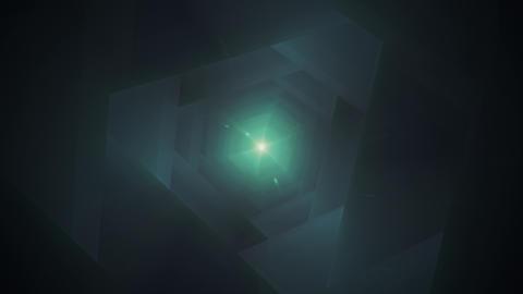 Fast Flight Through the Dark Hi-Tech Tunnel Stock Video Footage