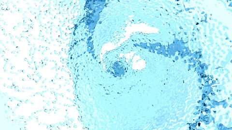 Beautiful Blue Color Water Whirl Animation