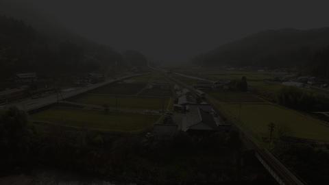 Train Across The Iron Bridge 鉄橋を渡る列車(4k空撮素材) stock footage