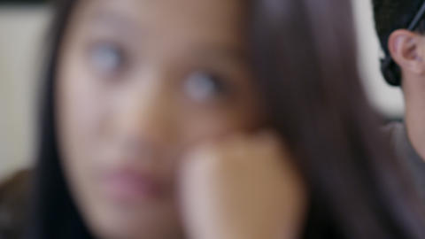 Tight shot of teenage kids in school classroom Footage
