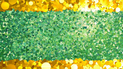 Glitter Circle Frame 4 Sc Gold 4k Animation