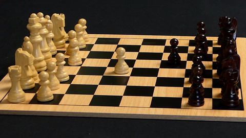 Chess Pieces Flung Into Opponent GIF