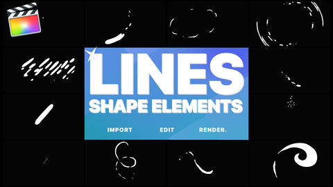 Flash FX Shape Lines Apple Motion Template