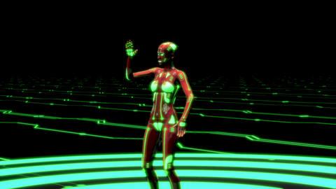 Female Cyberpunk Dancer Animation Animation