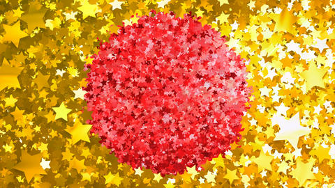Glitter Star Frame 4 Cs Gold 4k Animation