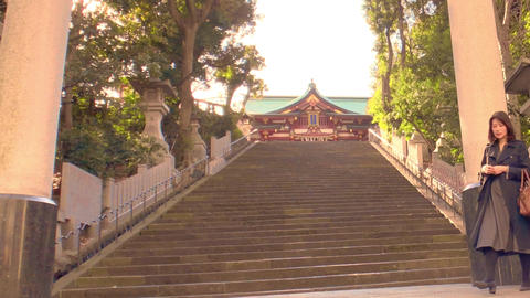 The entrance of japanese shrine Live Action