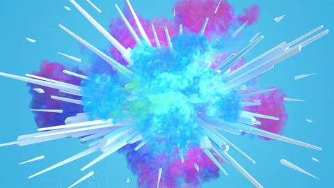 Colored smoke explosion in 4K GIF