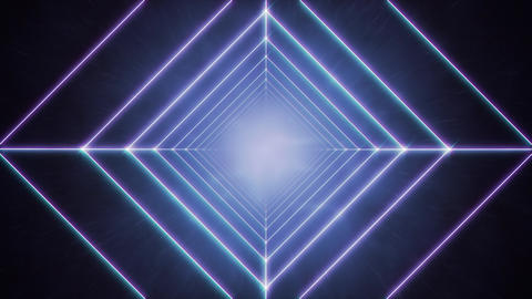 Energetic Linear Square Tunnel Animation