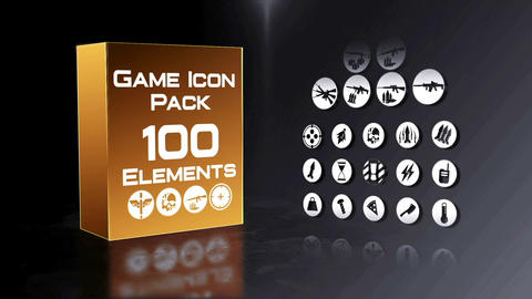 Game Icon Pack 100 Elements After Effects Template