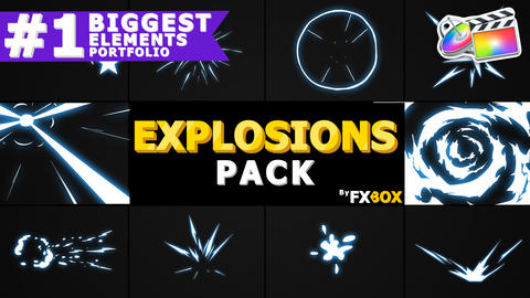 Hand Drawn Explosion Elements And Transitions Apple Motion Template