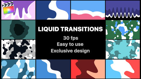 Liquid Motion Transitions Apple Motion Template
