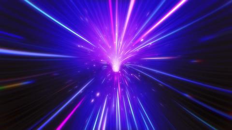 Neon VJ Light Tunnel Stock Video Footage