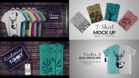 T-Shirt Mock Up Promo Pack 4K After Effects Template