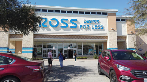 Ross Dress For Less Store Sign And Store In Davenport Florida GIF