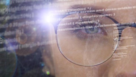 A woman activates a holographic projector in the rim of... Stock Video Footage