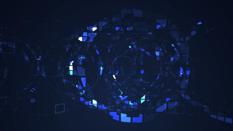 Abstract circle digital technology seamless looping motion graphic animation Animation