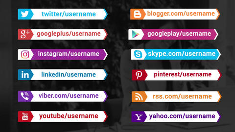 Social Media Promotion Titles After Effects Template