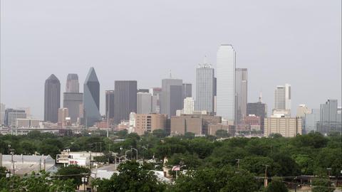 Dallas skyline with a little bit of haze Footage