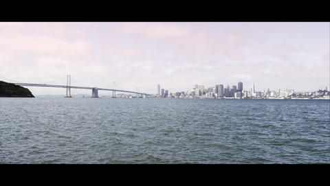 Static shot of the Golden Gate Bridge and San Francisco Footage