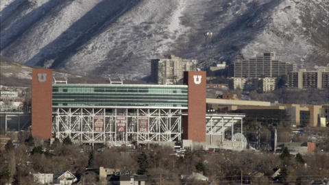 Static shot of Rice Eccles Stadium at the University of Utah Live Action