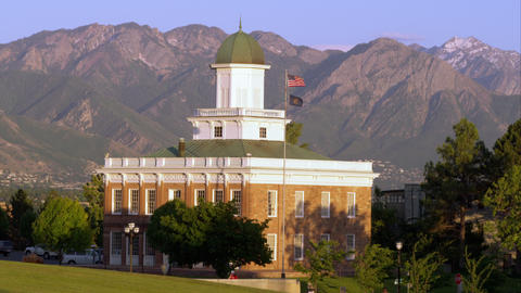 Static shot of the Council Hall building in Salt Lake City, Utah Footage
