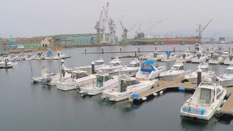 The port of Hakodate yacht harbor Footage