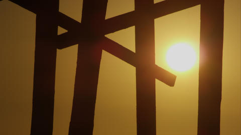 Sunset Silhouette Footage