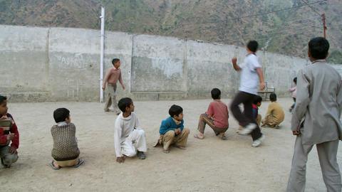 School boys playing games Footage