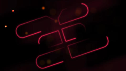 Neon Abstract Stroke Logo Reveal After Effects Template