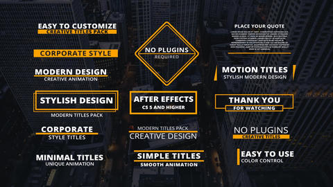 Corporate Titles Motion Graphics Template