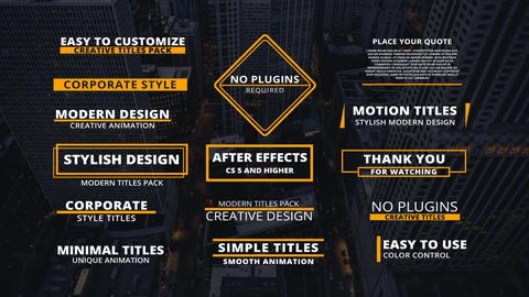 15 Corporate Titles After Effects Template