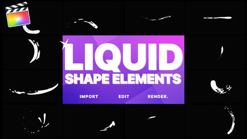 Liquid Shapes Apple Motion Template