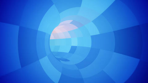 Rotating Corporate Square Segmented Tunnel Animation