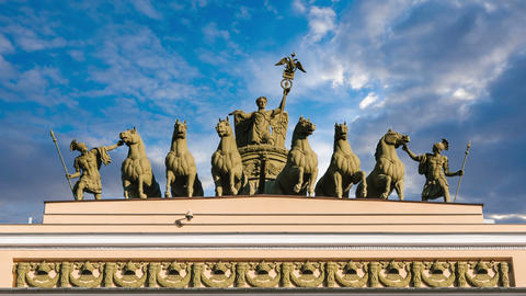 St. Petersburg. Arch of the General staff. time laps Live Action