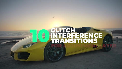 Glitch Interference Transitions Premiere Pro Template