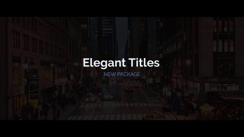 Elegant Titles Motion Graphics Template