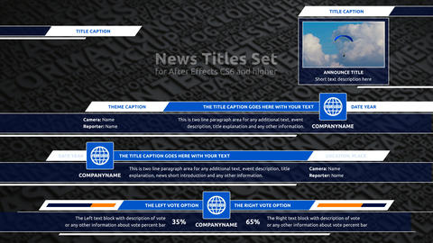 News Titles Set After Effects Template